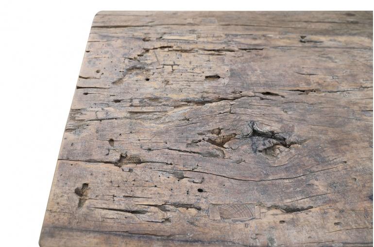 Petite Lily Interiors Console Table/bureau Vintage bois brut - L177x48xh80cm - pièce unique