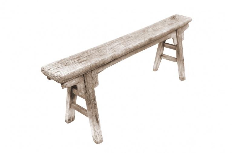 Snowdrops Copenhagen Bench Raw Elm wood - 137x17xh52cm - Unique Product