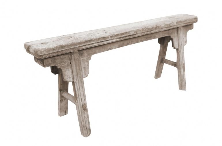 Snowdrops Copenhagen Bench Raw Elm wood - 126x16xh53cm - Unique Product