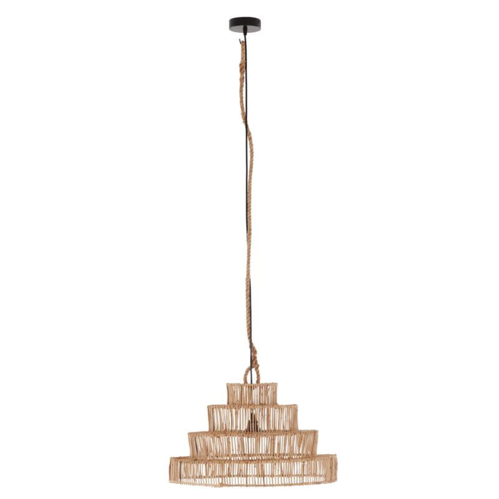Petite Lily Interiors Rattan pendant lamp - natural - Ø50x35cm