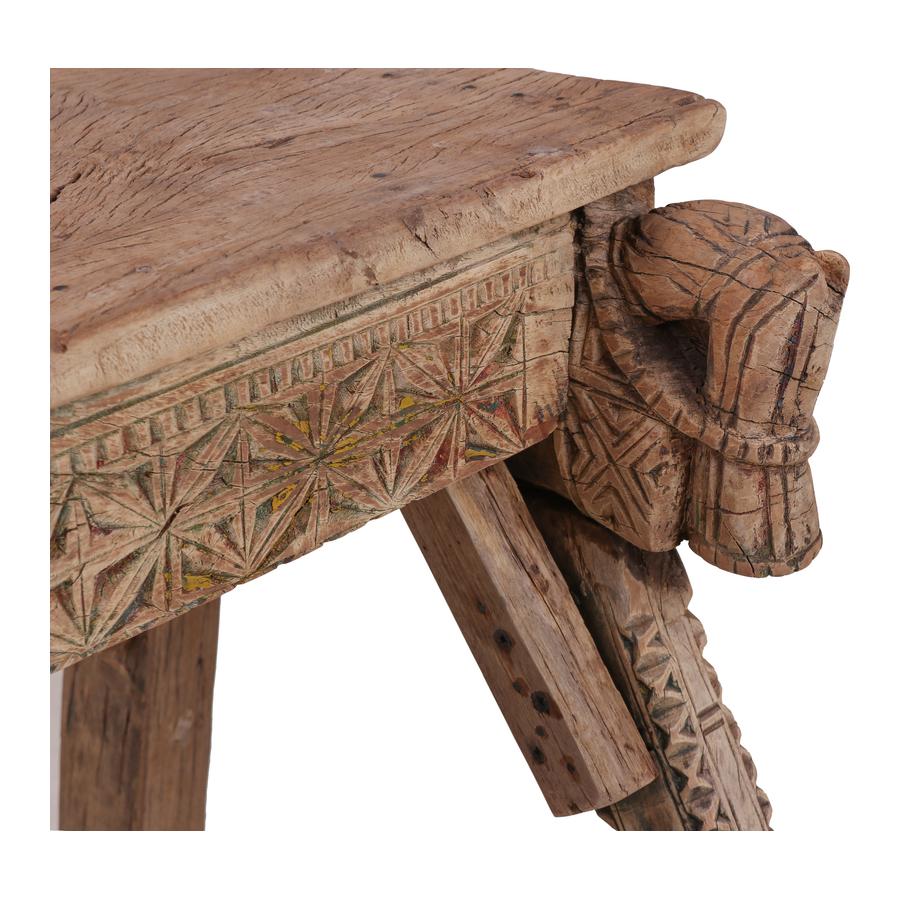 Petite Lily Interiors Indian console carved wood - 130x67xh79cm - unique piece