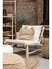 Bazar Bizar Teak wood One Seater with white cushion