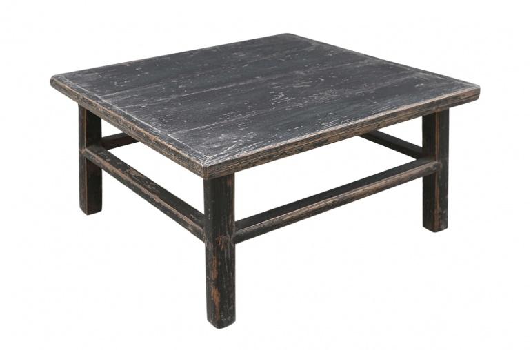 Petite Lily Interiors Table console vintage - noir -  87x84xh46cm - Bois d'orme