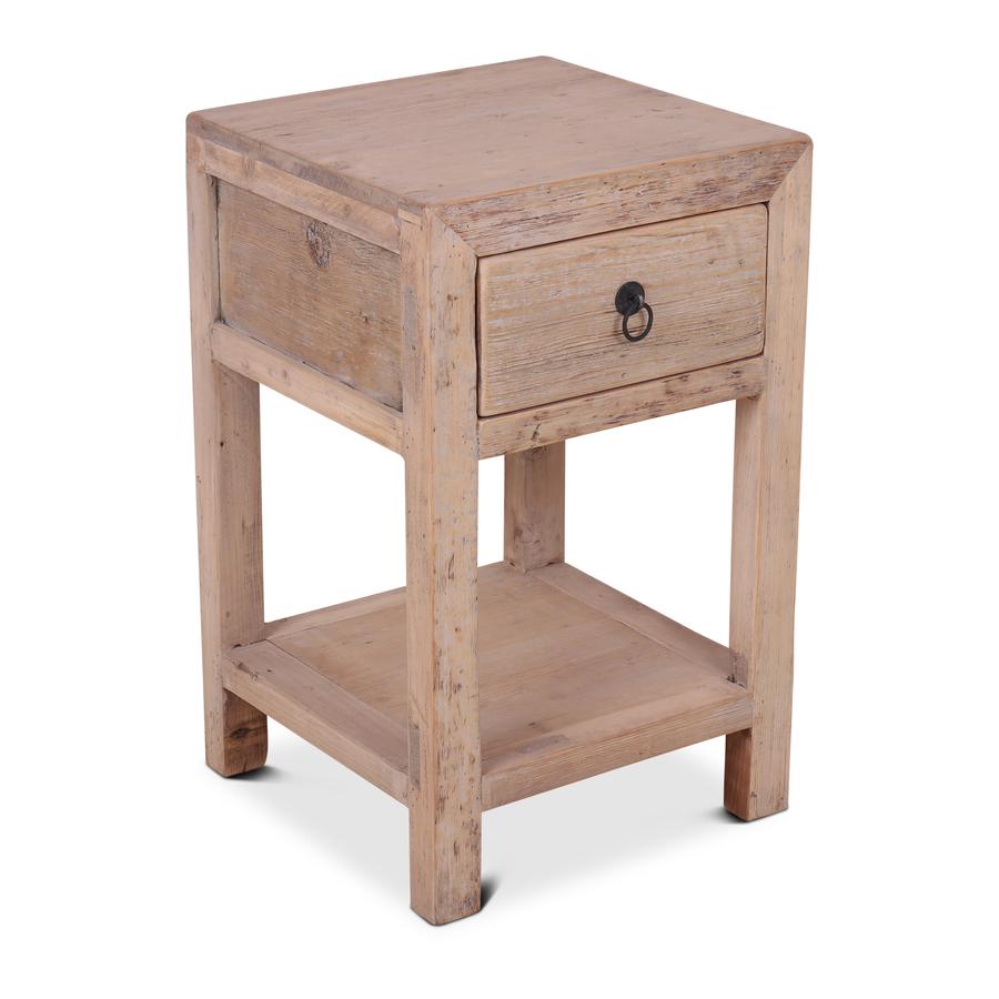 Petite Lily Interiors Night stand - raw wood - 40x40xh65cm - unique item