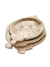 Petite Lily Interiors Indian bowl/tray vintage - naturel - Ø35-Ø50cm - Unique Item
