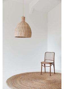 the dharma door  Lampe Suspension Tonga en fibres de palmier  - Ø56-H65cm