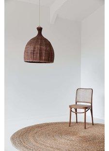the dharma door  Lampe Suspension Tonga en fibres de palmier  - Ø56-H65cm - marron
