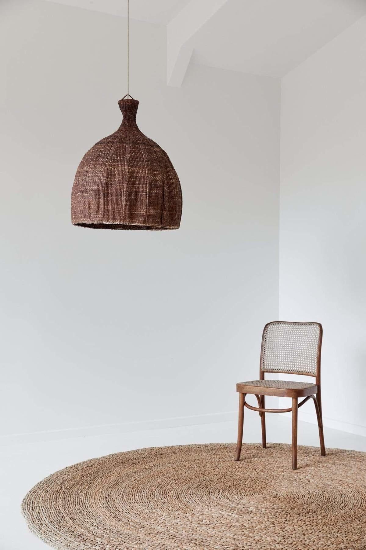 the dharma door  Tonga Pendant Light - brown - Ø56-H65cm