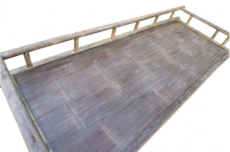 Petite Lily Interiors Lit de jour - bois brut - 201xW76xH60cm