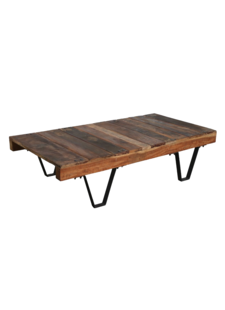 Petite Lily Interiors Industrial coffee table - metal & wood - 140x70xh35cm