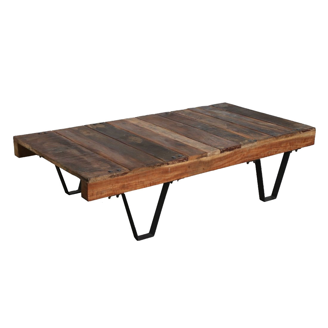 Petite Lily Interiors Industrial coffee table India - metal & wood - 140x70xh35cm