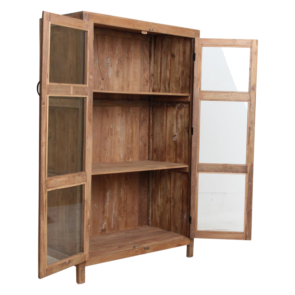 Petite Lily Interiors Cabinet Vitrine - Natural - L94xH157xW48cm - unique item