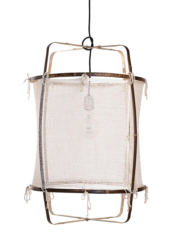 Ay Illuminate Z1 Bamboo pendant lamp with Silk and Cashmere cover - Ø67xh100 CM - white - Ay illuminate