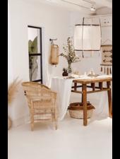 Ay Illuminate Z11 pendant lamp in bamboo and cashmere cover - Ø 48.5cm - white - Ay illuminate
