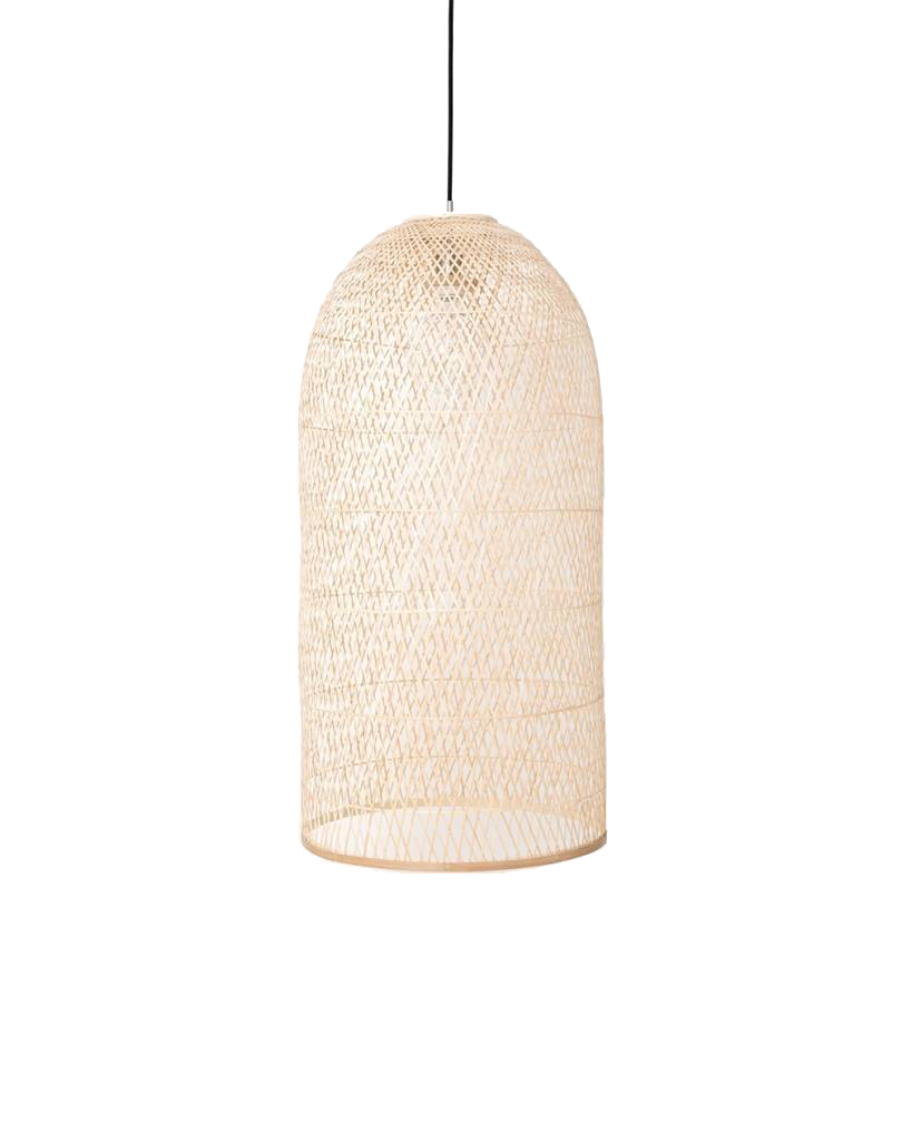 Ay Illuminate Bamboo Pendant Lamp CAP LARGE - Natural - Ø48x110 cm - Ay illuminate