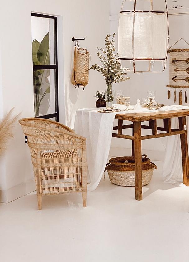 Petite Lily Interiors Chaise Malawi - Bohème Chic - 45xw78xh78cm - naturel