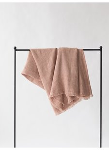 Tell me more Linen bedspread / Throw - Almond / Nude - 130x170cm