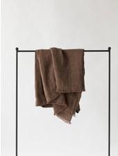 Tell me more Couvre-lit en lin / Plaid - Cannelle - 130x170cm