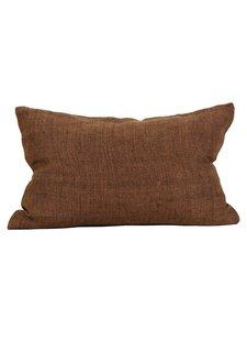 Tell me more Cushion cover 100% linen - Cinnamon - 40x60cm