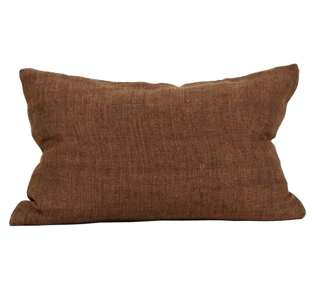 Tell me more Housse de coussin 100% lin -  Cannelle / marrón - 40x60cm - Tell Me More