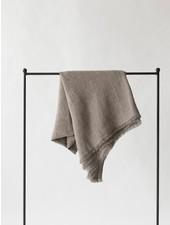 Tell me more Couvre-lit en lin / Plaid - Gris cendre - 130x170cm