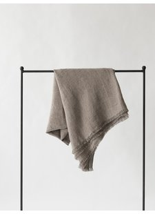 Tell me more Linen bedspread / Throw - Ash - 130x170cm