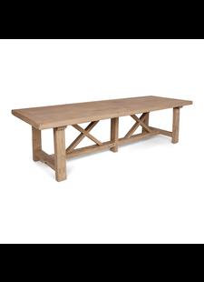 Petite Lily Interiors Table de salle à manger bois brut - 300x100xh78H