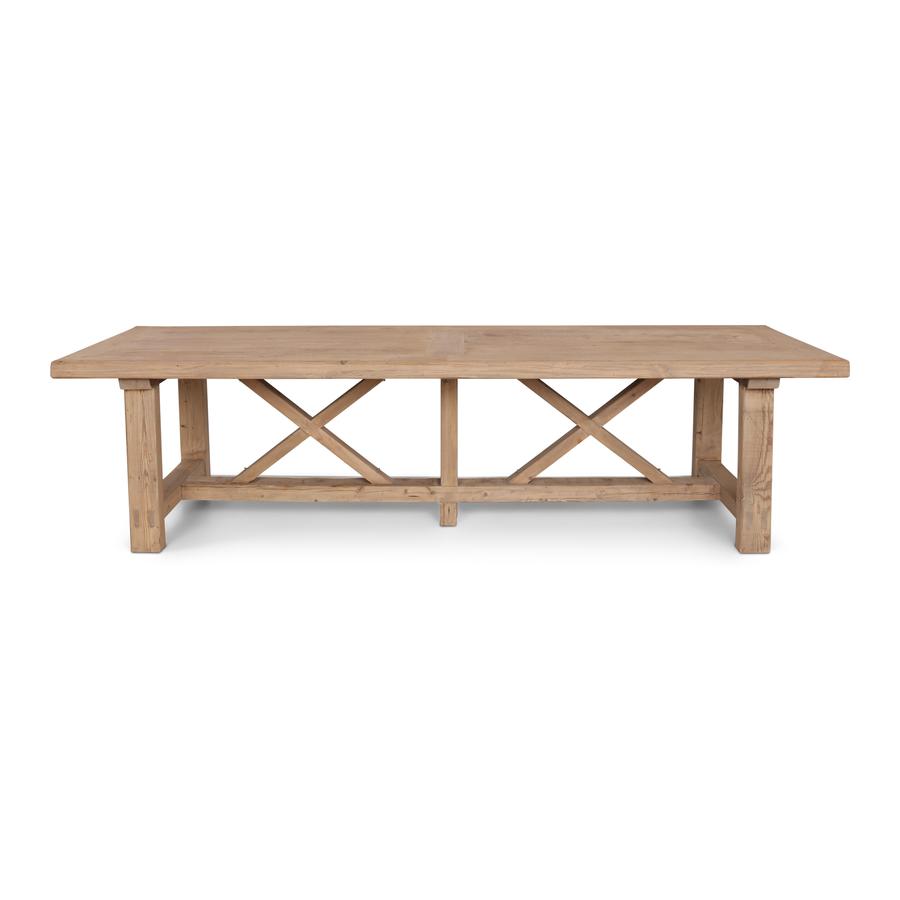 Petite Lily Interiors Table de salle à manger bois brut - 300x100xh78H - unique piece