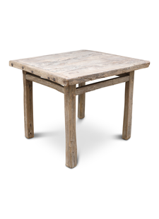 Petite Lily Interiors Dining room table recycled elm wood - 95x89x80cm