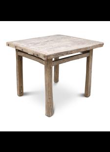 Petite Lily Interiors Table de salle à manger bois d'orme - 95x89x80cm