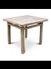 Petite Lily Interiors Table de salle à manger bois d'orme - 95x89x80cm  - Piece Unique