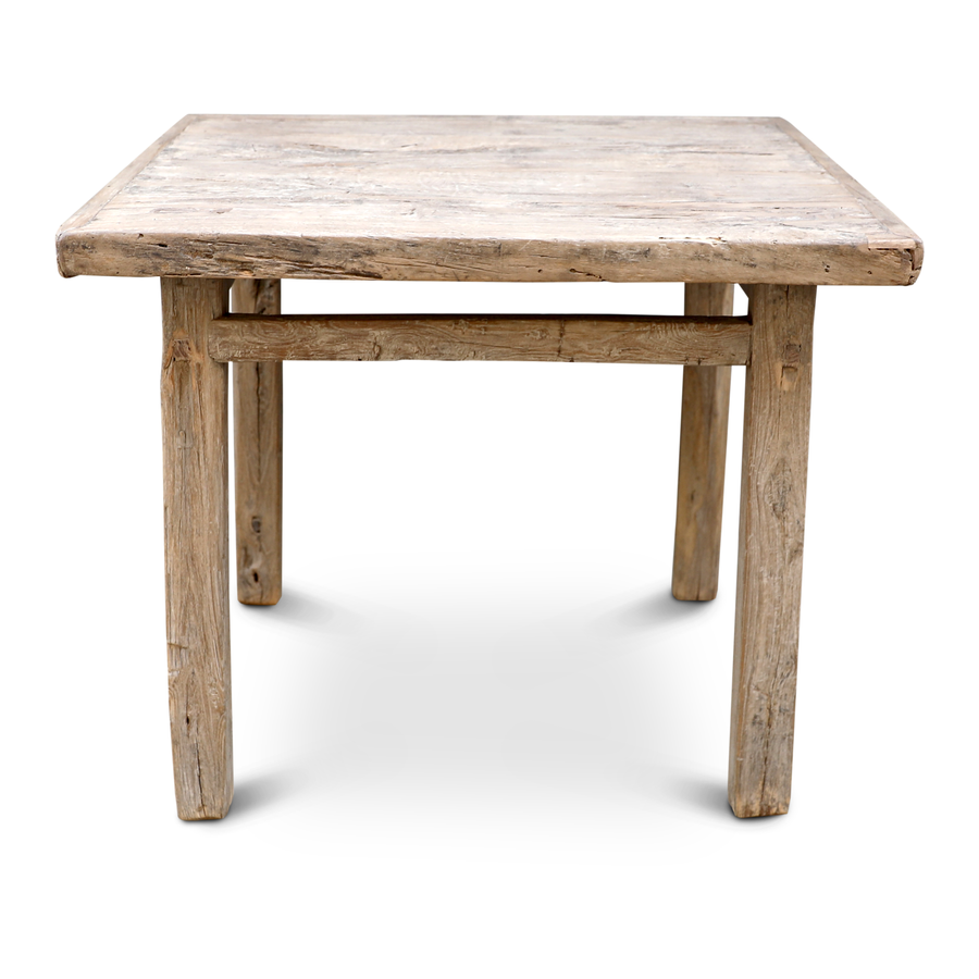 Petite Lily Interiors Dining room table recycled elm wood - 95x89x80cm - unique piece