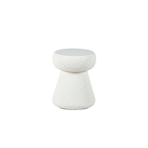 Dareels White Stool Cork - teak - 33x33xh40cm - Dareels