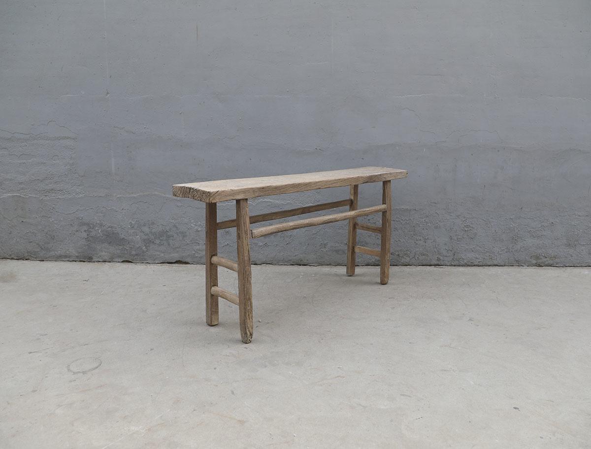 Maisons Origines Table console vintage en Bois d'orme - Piece Unique - 162X33Xh77cm