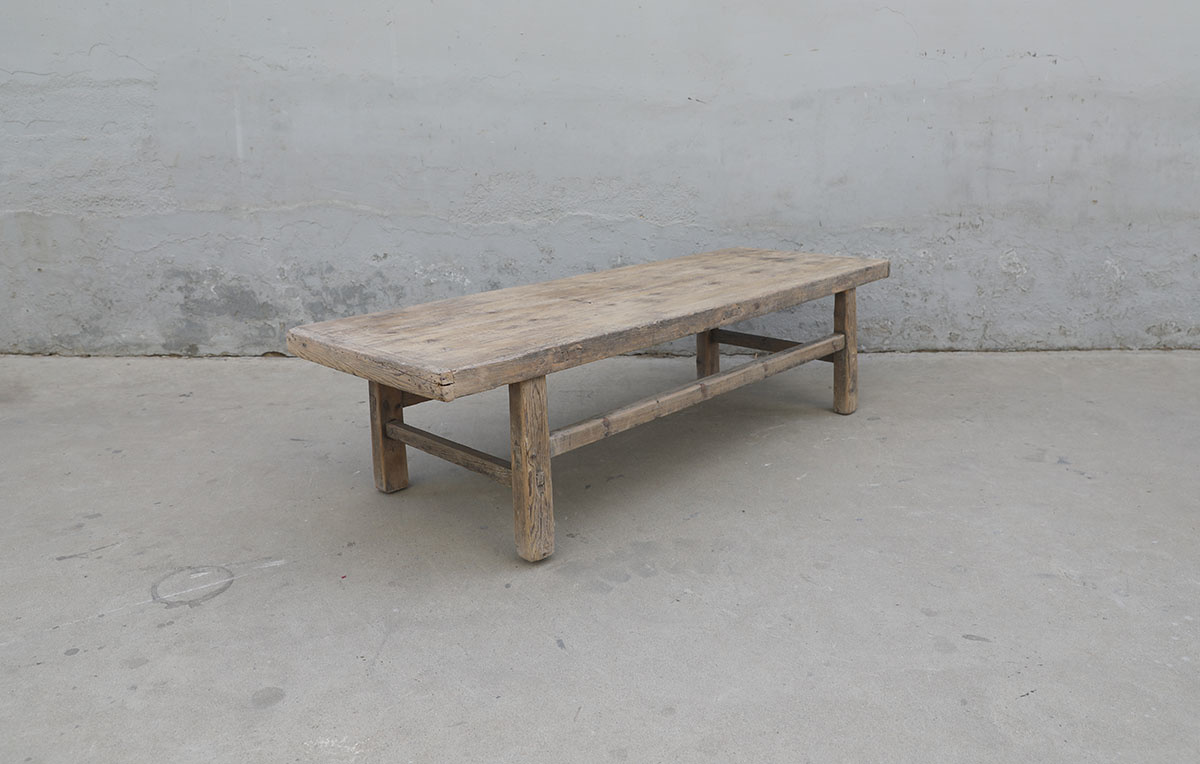 Maisons Origines Coffee table vintage Raw Wood - 162X56X43 - unique piece