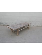 Maisons Origines Table basse vintage / bois brut - 163X61X43cm