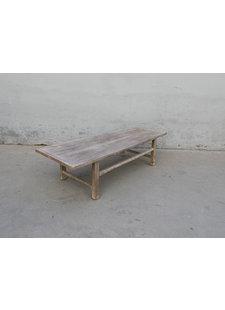 Maisons Origines Raw wood coffee table - 163X61X43cm - Walnut
