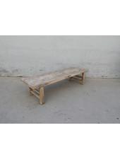 Maisons Origines Table basse vintage / bois brut - 172X50X40cm
