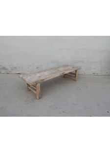 Maisons Origines Raw wood coffee table - 172X50X40cm - Walnut