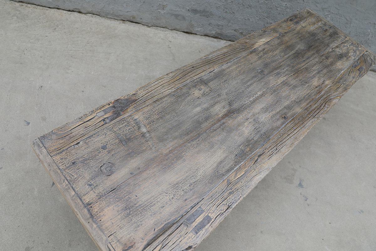 Maisons Origines Table basse bois brut - 160X50Xh45cm - pièce unique