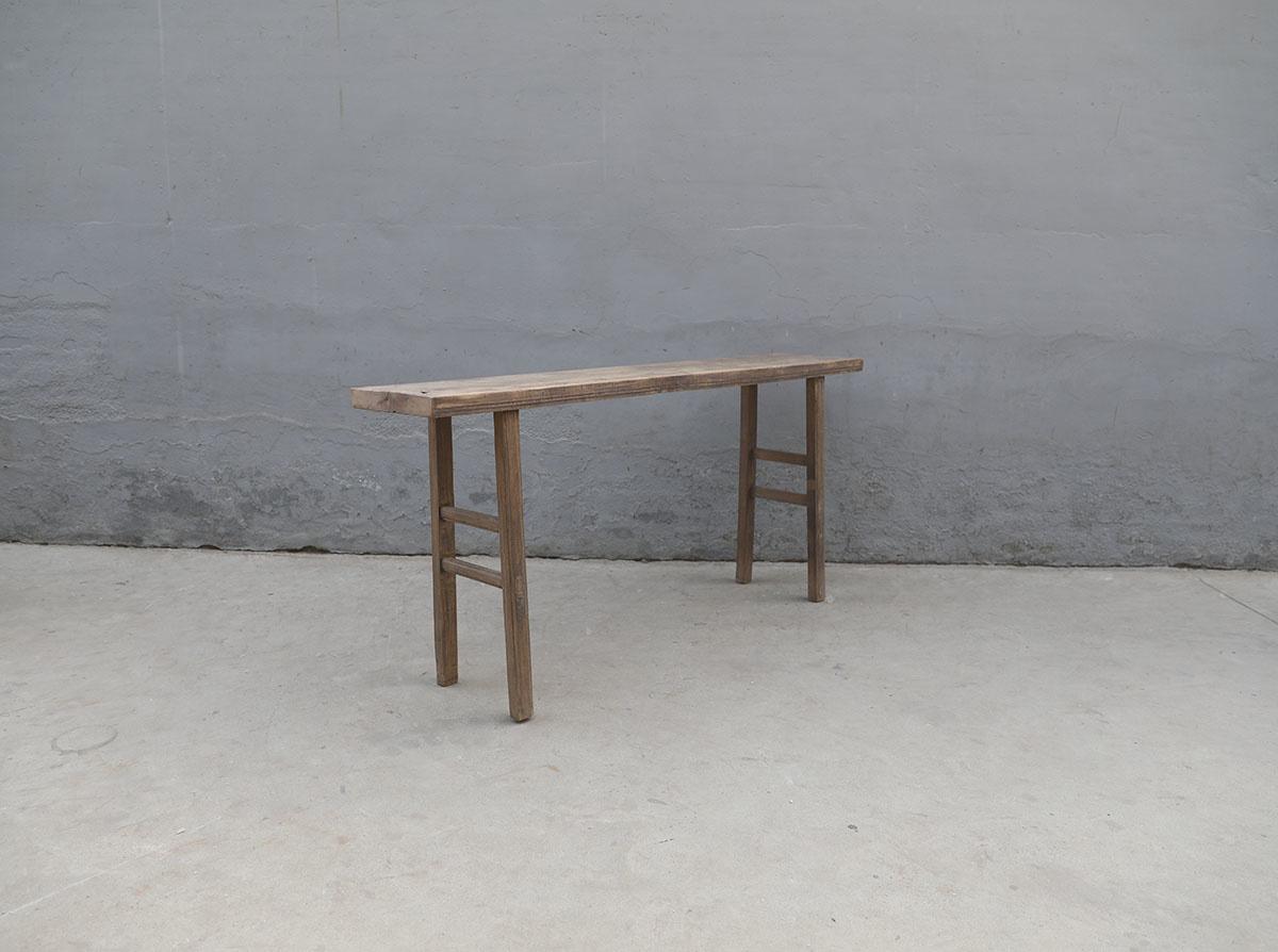 Maisons Origines Table console vintage en Bois d'orme - Piece Unique - 178X36X83cm