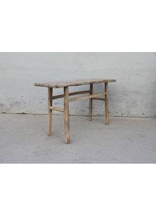 Maisons Origines Table console vintage en Bois d'orme - 142X42X77cm