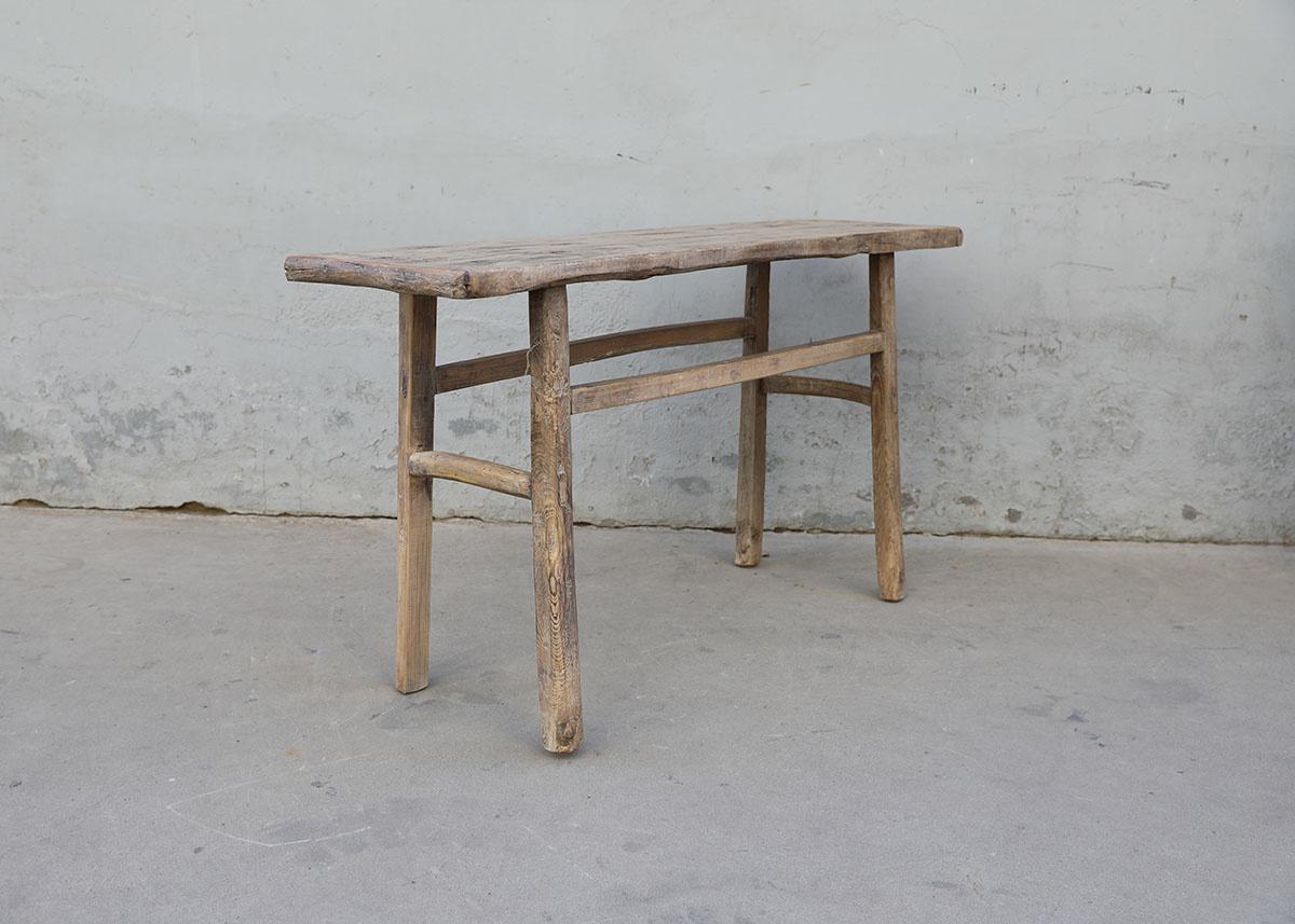 Maisons Origines Table console vintage en Bois d'orme - Piece Unique - 142X42X77cm