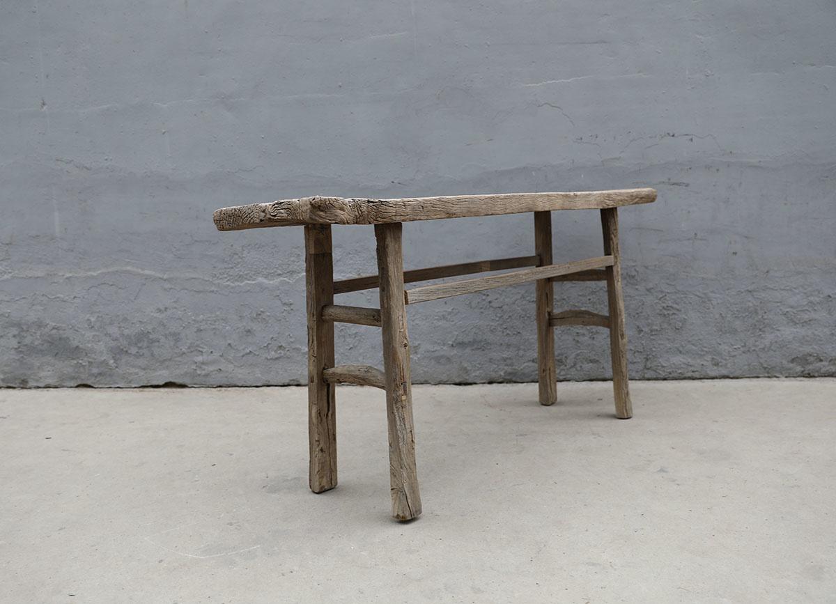 Maisons Origines Table console vintage en Bois d'orme - Piece Unique - 170X40X82cm