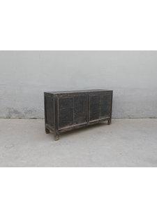 Maisons Origines Buffet Table Vintage - noir - 160X45X87cm