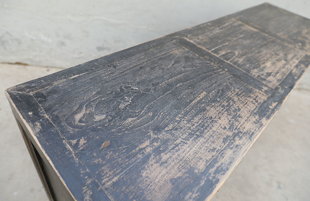 Maisons Origines Sideboard vintage - black - 160X45X87cm - elm wood