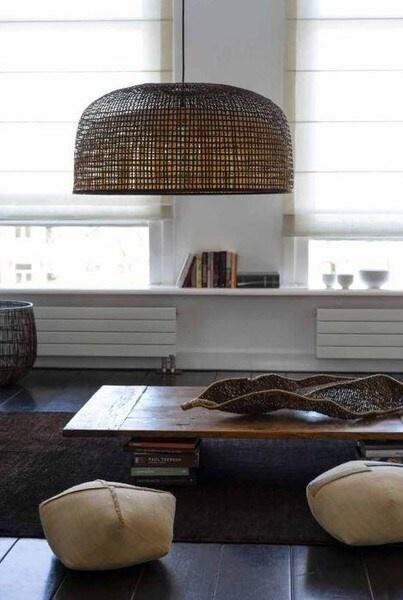 Ay Illuminate Lampe Suspension Bambou Doppio Gris - foncé - Ø80x41cm - Ay Illuminate