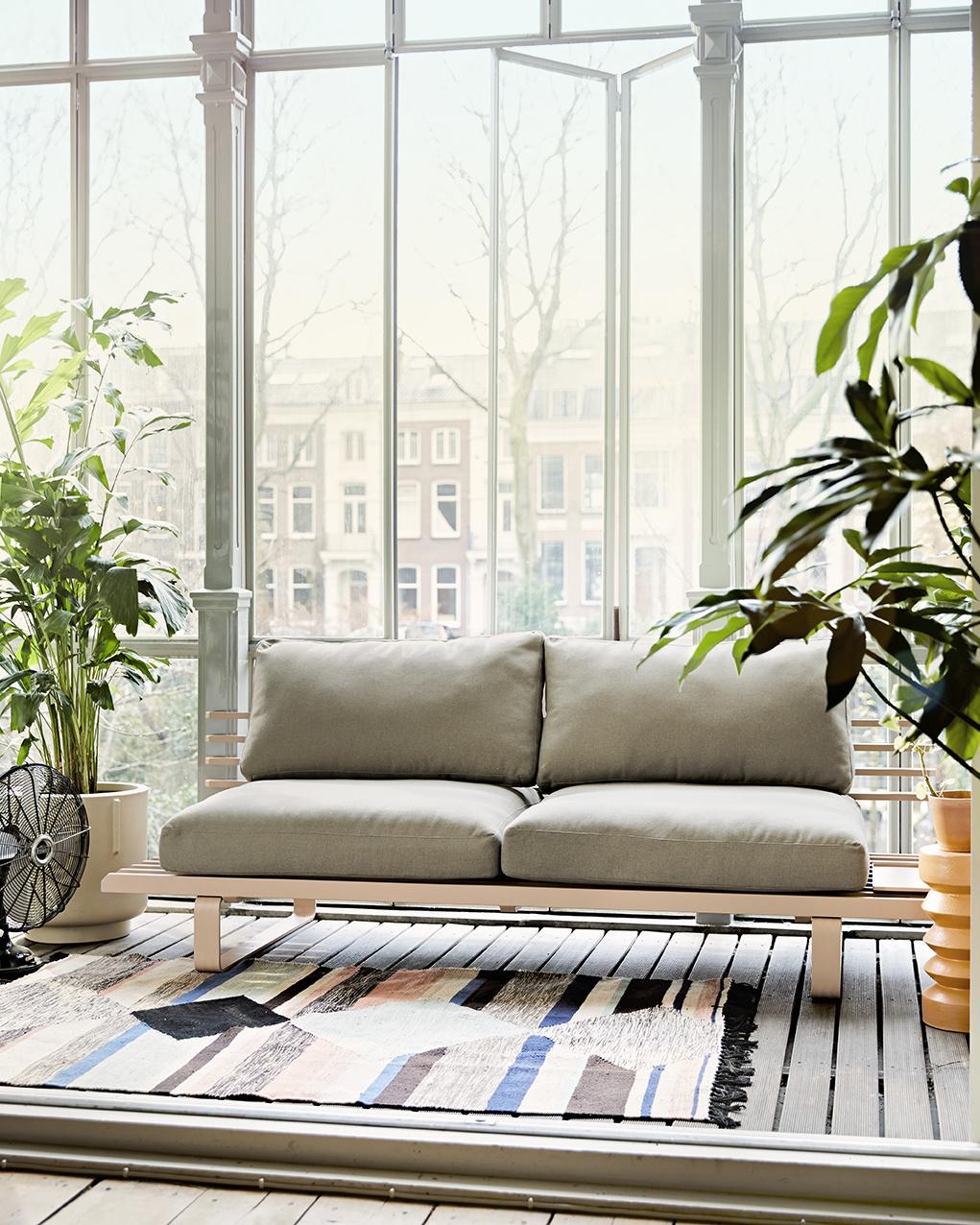 HK Living Banc  / Canapé d'extérieur en Aluminum - chai - 220x84xh63cm