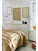 HK Living Velvet bedspread - soft yellow -240x260cm - HK Living