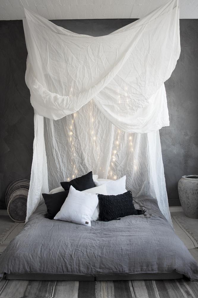 Moustiquaire / baldaquin / ciel de lit -  blanc - 200x200xh250cm
